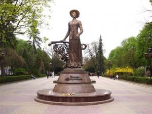 The Monument to Solomiya Krushelnitska